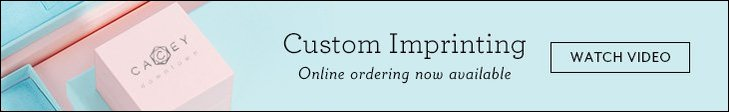 Custom Imprinting - Online ordering now available | Watch Video