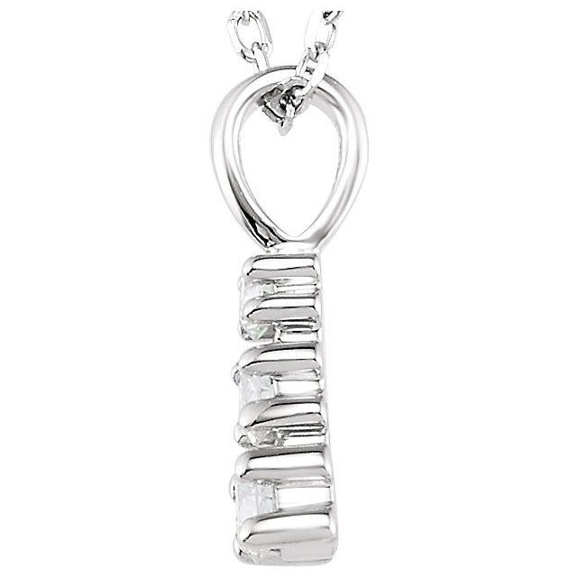 14K White 1/6 CTW Diamond 3-Stone 18