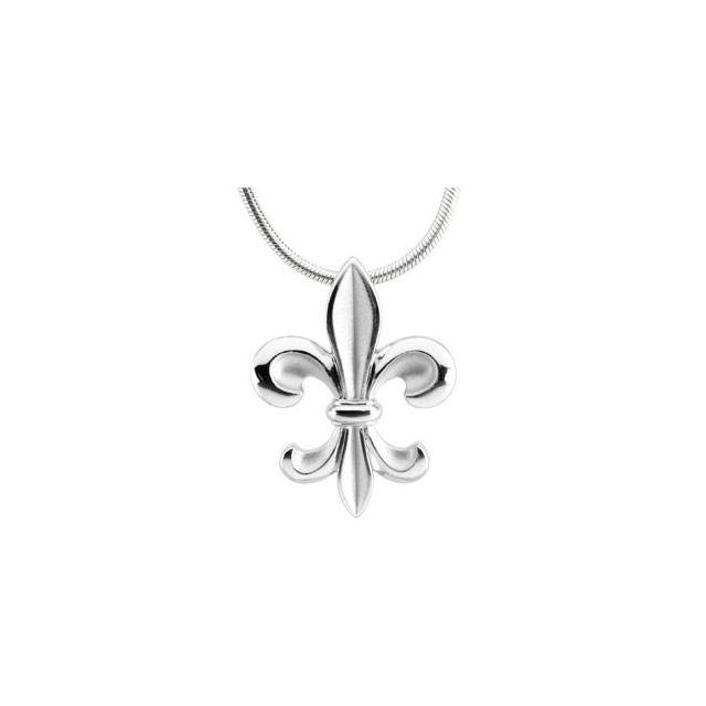 Sterling Silver Fleur-De-Lis 18