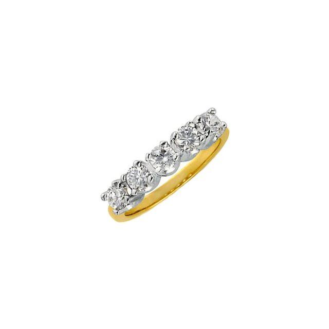 14K Yellow 1 CTW Diamond Anniversary Band