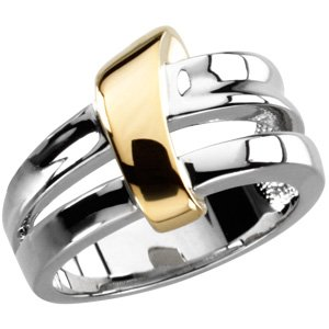 14K White & Yellow Two-Tone Fashion Ring