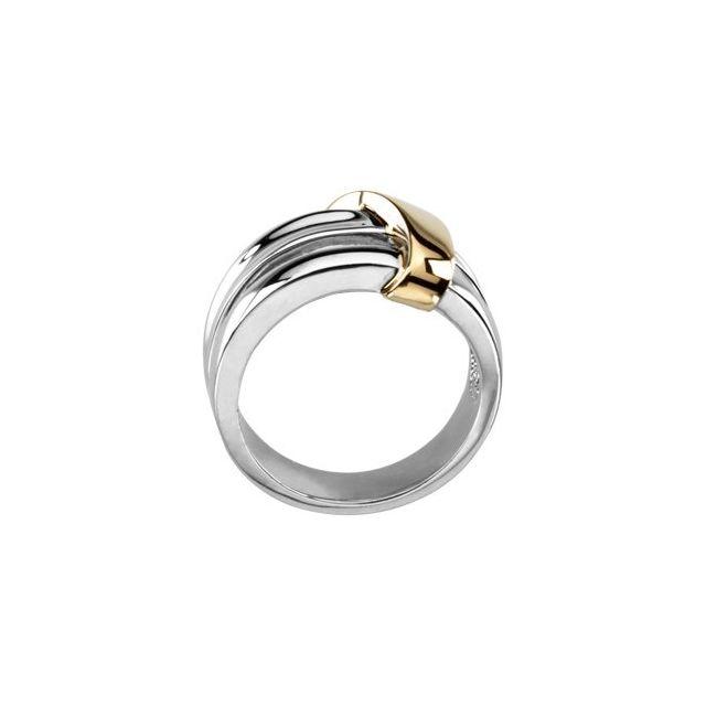 14K White & Yellow Two-Tone Fashion Ring
