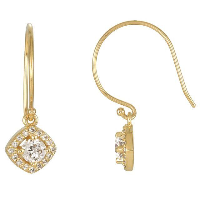 14K Yellow 5/8 CTW Diamond Earrings