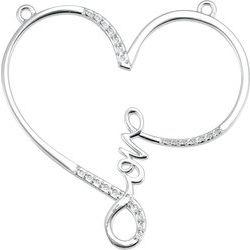 """Love"" Heart Infinity Designnáhrdelník alebo Center Mounting"