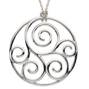 Filigree Scroll Metal Pendant