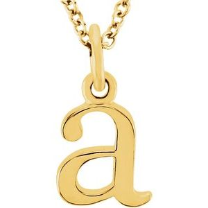 """14K Yellow Lowercase Initial a 16"""" Necklace"""