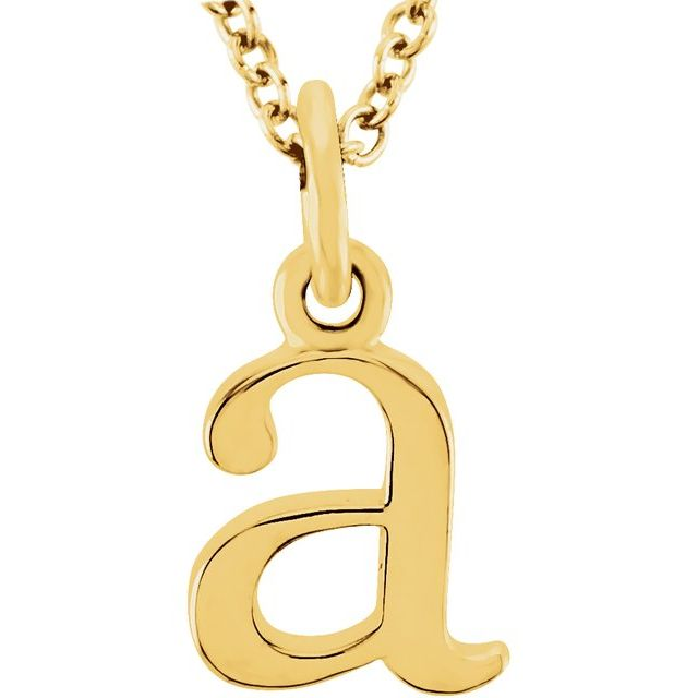14K Yellow Lowercase Initial a 16