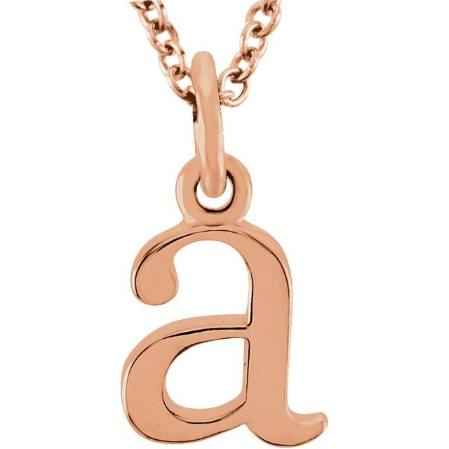 14K Rose Lowercase Initial a 16