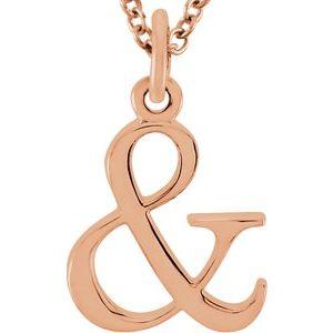 """14K Rose Ampersand 16"""" Necklace"""