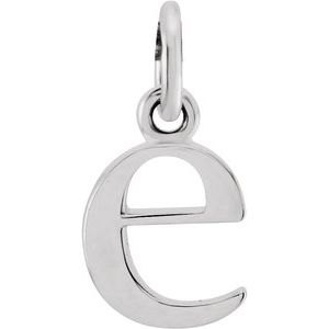 Sterling Silver Lowercase Initial e Pendant
