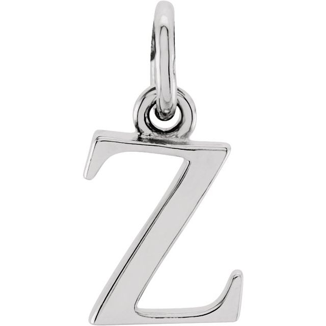 Sterling Silver Lowercase Initial z 16