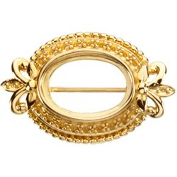 Brooch Mounting for Oval Center
