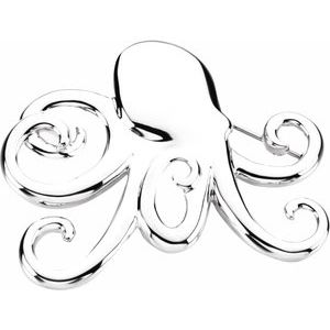 Sterling Silver 51x46.5 mm Octopus Brooch or Pendant