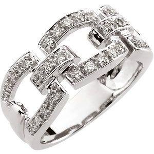 14K White 1/3 CTW Diamond Fashion Ring