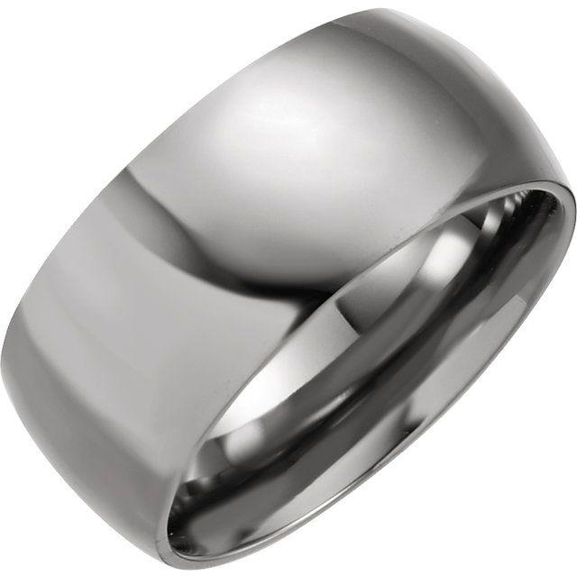 Titanium 10 mm Domed Polished Band Size 7.5