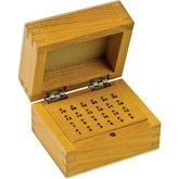 24 Hole Wooden Bur Box with Lid
