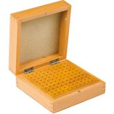 100 Hole Wooden Bur Box with Lid