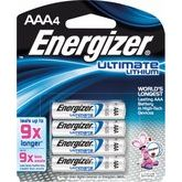 Energizer Pack Of 4 AAA Batteries