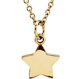 "14K Yellow Tiny Posh® Star 16-18"" Necklace"