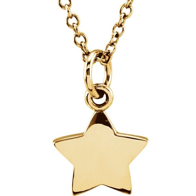 14K Yellow Tiny Posh® Star 16-18