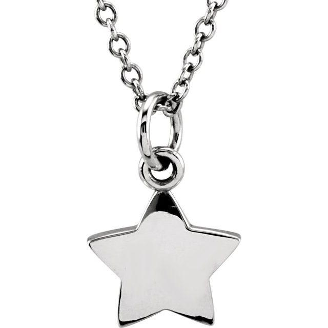 14K White Tiny Posh® Star 16-18