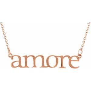"14K Rose ""Amore"" 16.25"" Necklace"