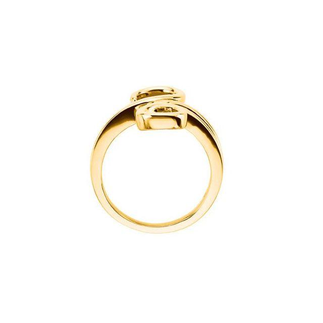 10K Yellow Freeform Ring