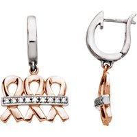 14K Rose & White 25.5x15.75 mm .09 CTW Diamond Dangle Earrings