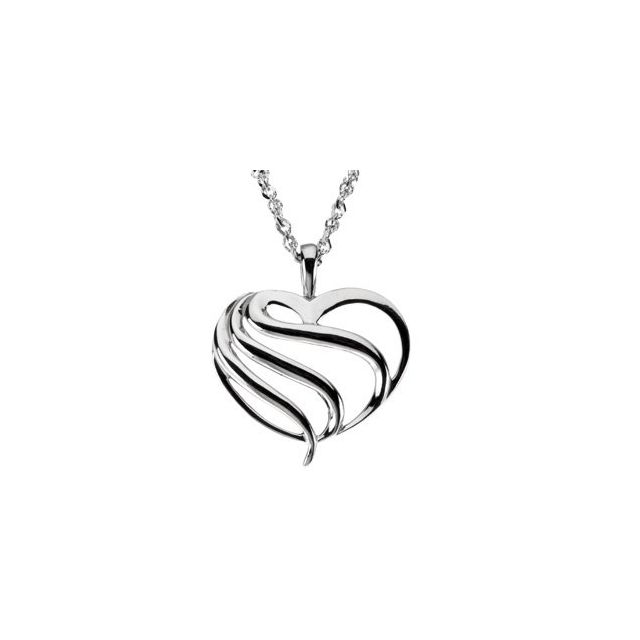 Gold Fashion Heart Pendant