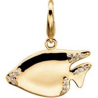 14K Yellow .07 CTW Diamond Sunfish Charm