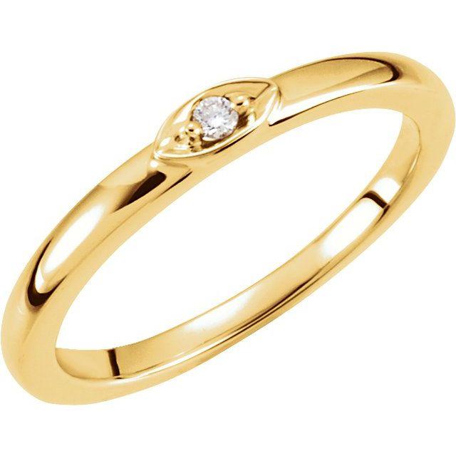 14K Yellow .025 CTW Diamond Stackable Ring