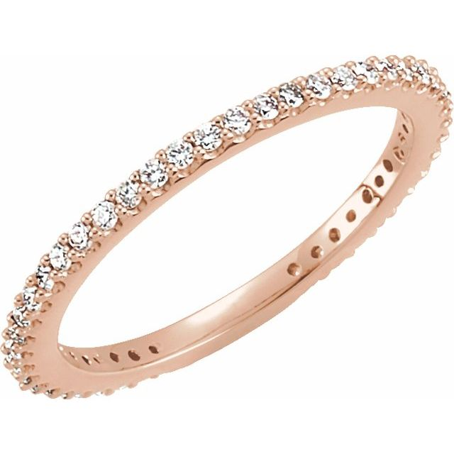 14K Rose 1/3 CTW Diamond Stackable Ring Size 4