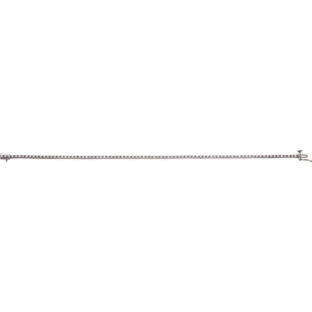 14K White 7/8 CTW Lab-Grown Diamond Line 7 1/4