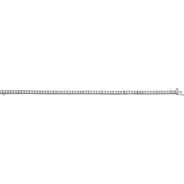14K White 4 CTW Diamond Line 7 1/4