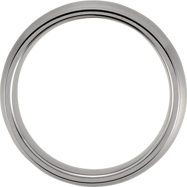 Titanium 7 mm Grooved & Satin Finish Band Size 9