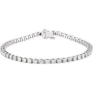"14K White 3 1/2 CTW Diamond Line 7 1/4"" Bracelet"