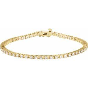 "14K Yellow 2 1/4 CTW Diamond Line 7 1/4"" Line Bracelet"