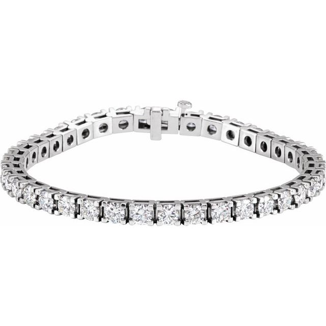 "18K White 9 1/6 CTW Diamond Line 7 1/4"" Bracelet"