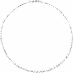 "14K White 5 CTW Diamond 18"" Necklace"