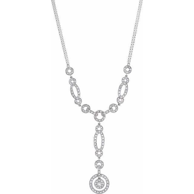 14K White 1 CTW Diamond