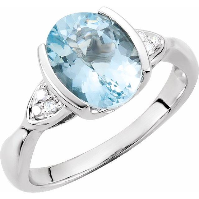 Accented Half Bezel Ring