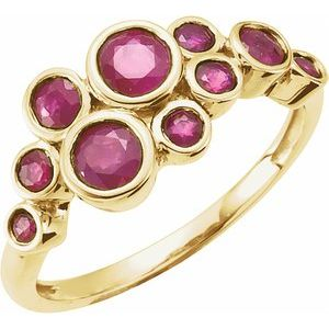 14K Yellow Ruby Bezel-Set Ring