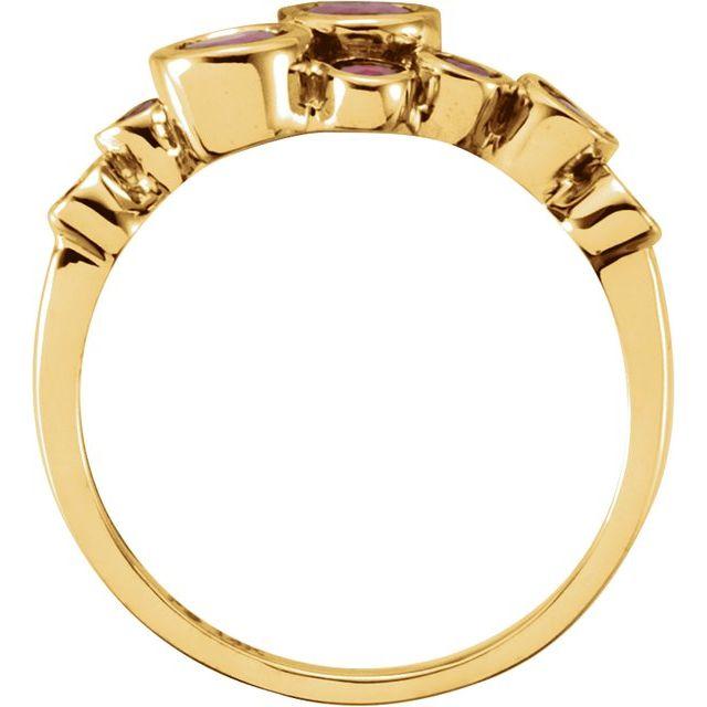 14K Yellow Ruby Bezel-Set Ring