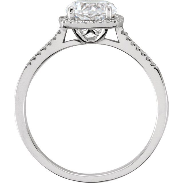 Sterling Silver Lab-Grown White Sapphire & .01 CTW Diamond Ring Size 8
