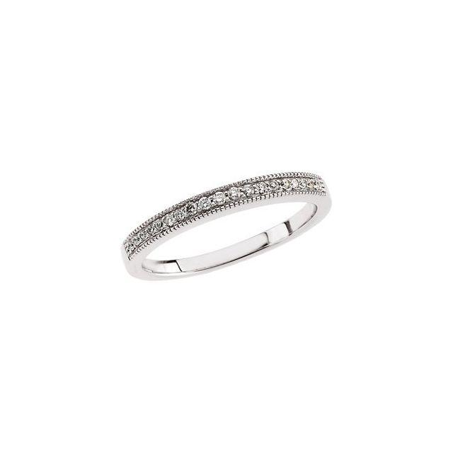 Platinum 1/8 CTW Diamond Matching Band