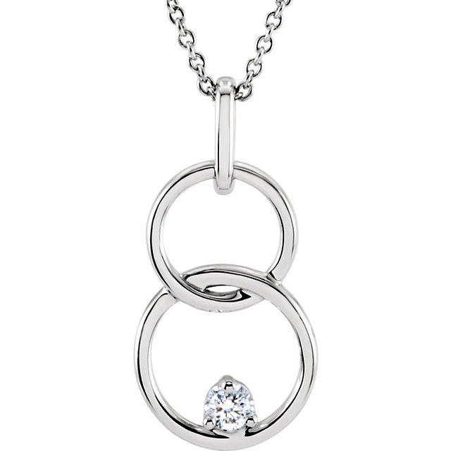 14K White .04 CTW Diamond Circle 18