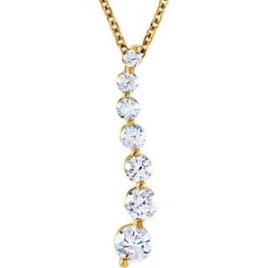 "14K Yellow 1/2 CTW Diamond Journey 18"" Necklace"