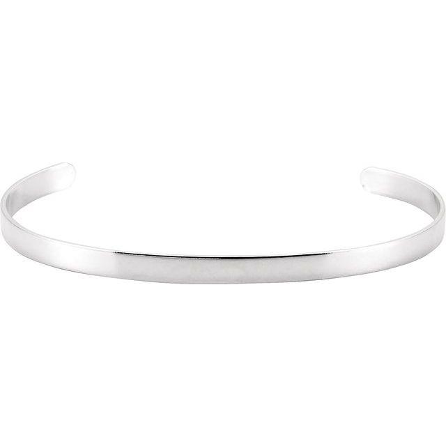 Sterling Silver Cuff Bracelet - 4.75 mm