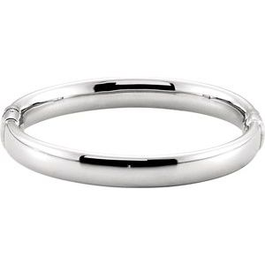 Sterling Silver 9 mm Hinged Bangle Bracelet
