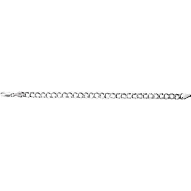 Sterling Silver 4.5 mm Hollow Curb Charm 7